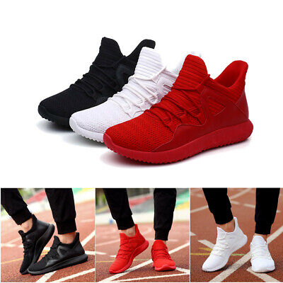 Men Running Sport Shoe Soft Breathable Mesh Sneaker Casual Athletic Trainer Lace