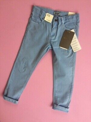 Designer MAYORAL Girls Light Blue 'Ripped' Cotton Jeans WAS £32 NOW £10 SALE