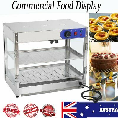 Commercial Countertop Pie Food Warmer Curved Acrylic Display Cabinet Show Case J
