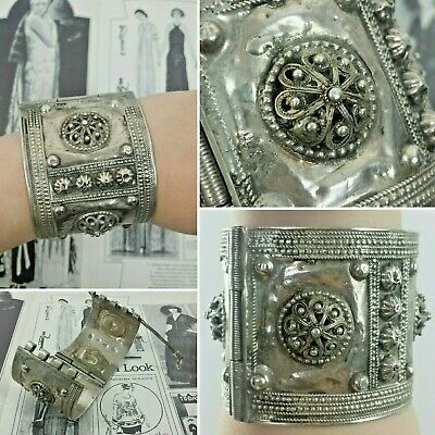 Antique Silver Persian Middle Eastern Ottoman Islamic Bracelet Solid Heavy Islam