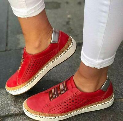 Ladies Womens Sports Summer Slip on Flats Loafers Mesh Sneakers Shoes Fashion