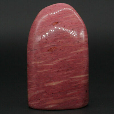 199g Natural Pink Rhodonite Palm Stone Crystal Mineral Specimen Rock Decor