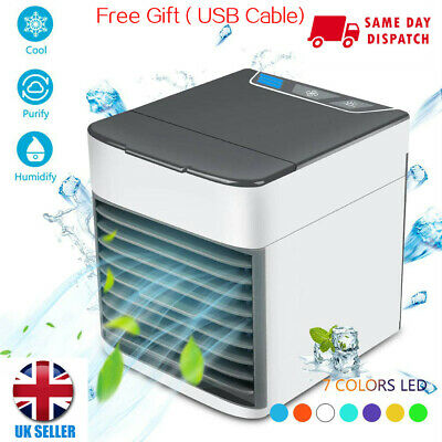 NEW Air Cooler Portable Conditioner 3 in 1 Mini Fan Humidifier Evaporate Cool UK