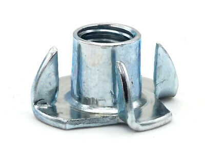 Metric T Nut Zinc Plated Steel Tee Nuts 4 Prong Barrel Nuts - M3 - M12