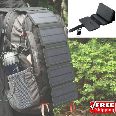 Outdoor Sun Power Solar Panel Removable Foldable Mobile Phone Charger Power Bank
