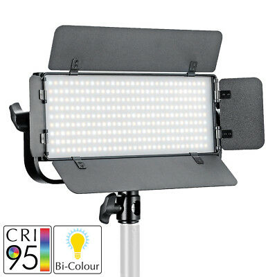 LED Bi-Colour Panel Portable Studio Dimmable Handheld Battery Powered Lighting