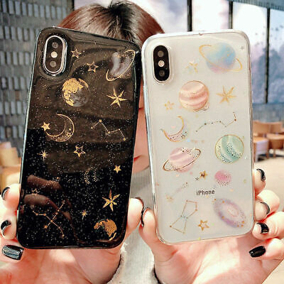 Glitter Space planet Soft Silicone Case Cover for iphone 11 XS MAX XR 8 7 6 Plus