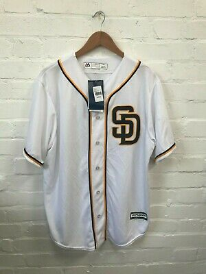 San Diego Padres Majestic MLB Men's Jersey - Large - White - Hedges 18 - New
