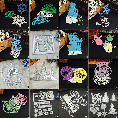 Christmas Snowman Cutting Dies Metal Stencil DIY Scrapbooking Album Paper Card