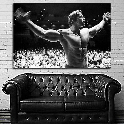 #04 Arnold Schwarzenegger Poster Fitness Muscle Gym 40x60 inch More Size Large