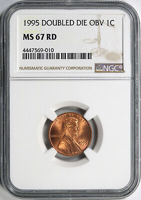 1995 Doubled Die Obverse 1c Lincoln Cent DDO NGC MS67RD