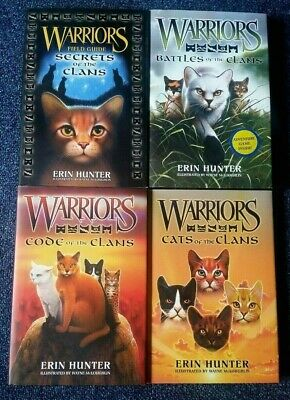 Warriors / Warrior Cats Field Guides books by Erin Hunter x4 Collection / Bundle