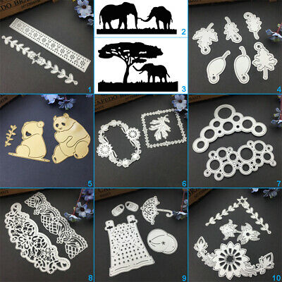 Elephant Lace Cutting Dies Metal Stencil DIY Scrapbooking Album Paper Card Leaf