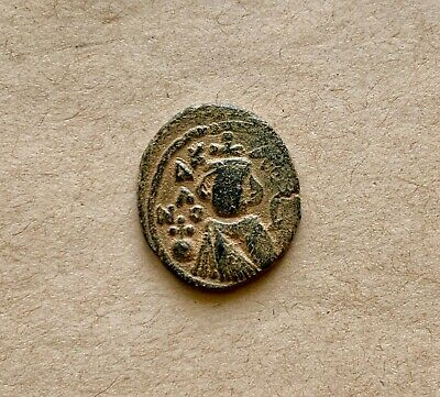 Bronze follis of Umayyad Caliphate (ca AD 670-690). Hims (Emesa) mint.Nice coin!