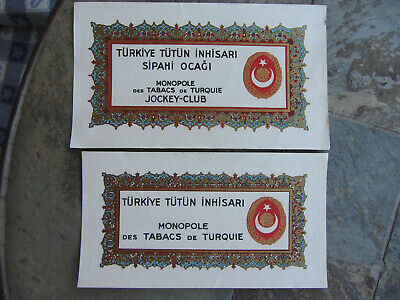 23 Old Turkish Cigarette Labels