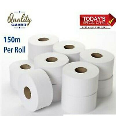 Mini Jumbo Toilet Roll (12 Rolls) FREE NEXT DAY DELIVERY BUY 2+ GET 10% OFF