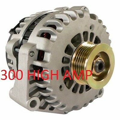 NEW HIGH OUTPUT ALTERNATOR Fits CHEVY CHEVROLET GMC CADILLAC HUMMER 300AMP