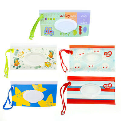 Clean Wipes Carrying Case Wet Wipes Bag Cosmetic Pouch Snap-strap Wipes HF