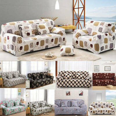 US Quilted Sofa Cover Pet Scratch Proof Elastic Fabric Couch Slipcover Protector