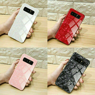 Luxury Marble Tempered Glass Shockproof Hard Phone Case For Samsung S10+ Plus US