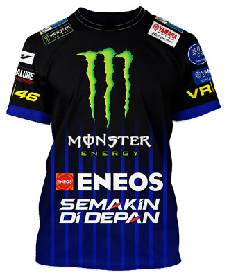 Valentino Rossi VR46 Moto GP M1 Yamaha Racing Team T-shirt Official 2019 Replica