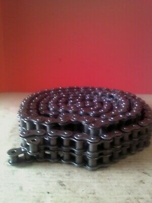 Allied Locke 60-2 360 Double Strand Roller Chain Used 10Ft