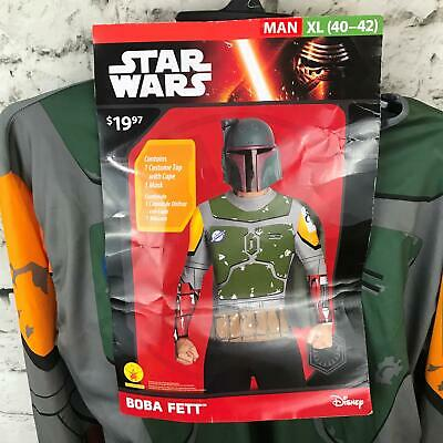Movie Star Wars Boba Fett Superhero Fighter Suit Adult Outfit Cosplay Cos Dress