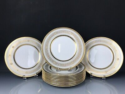 12 Minton Dinner Plates Retailed By Tiffany & Co New York
