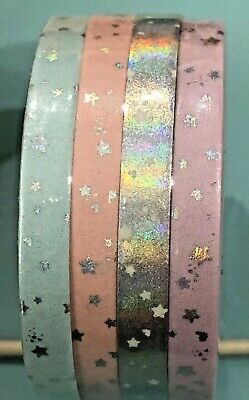 Simply Gilded New 5mm stars constellations Blue Pink Holo Lavender Washi Tapes