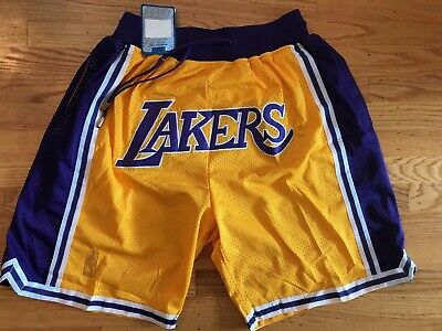 Los Angeles LA Lakers Yellow Just Don Summer League Time Team Basketball Shorts