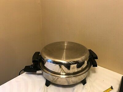 "LIQUID CORE Stainless Steel ELECTRIC SKILLET  12.5"" Dome Lid"