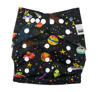 New Modern Cloth Nappies Mcn Diapers Potty Reusable Aliens In Space
