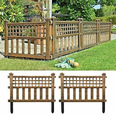 4xBronze Effect Garden Fencing Fence Panels Lawn Border Balmoral/ Louvre/ Venice