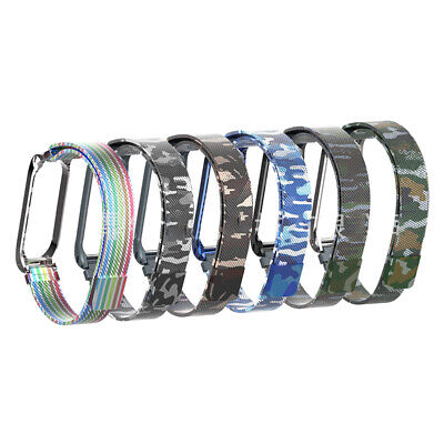 Magnetic Camouflage Rainbow Bracelet Metal Wrist Band For Xiaomi MI Band 4