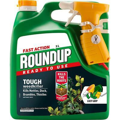 Roundup Tough Weedkiller 3L 3 L, Clear