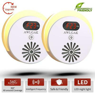 AWLGAK Ultrasonic Pest Repeller-Electronic Control Plug With Frequency...