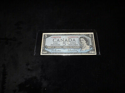Bank Of Canada 1954 $5.00 Replacement Note *Rc 0065716