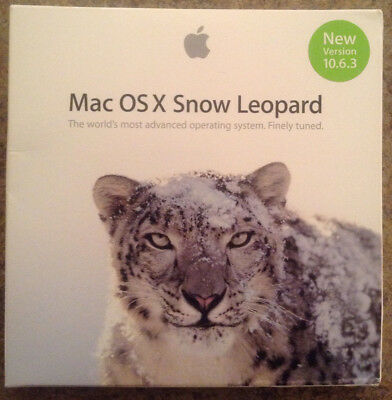NEW SEALED Retail Apple Mac OS X Snow Leopard 10.6.3 w/OS 10.6.8 ComboUpdate