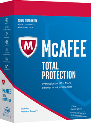 2019 Total Protection McAfee 2 YEAR Windows Pc Win MultiDevice MAC Android KAY