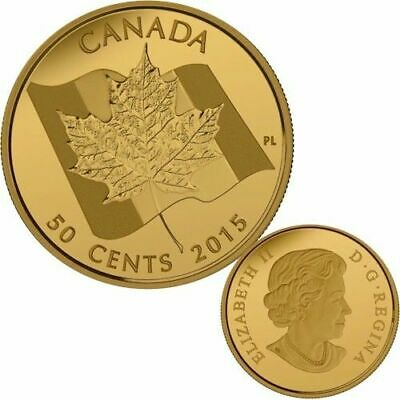 2015 Canada 50-cent 1/25th oz. Gold Coin - Maple Leaf .9999 fine