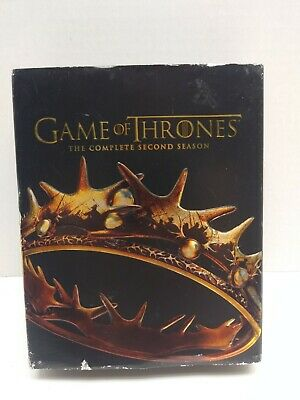 Game of Thrones Season 2 (two) Blu-ray 7 Disc Set Second HBO GoT