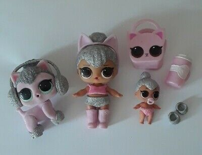 LOL Surprise Doll KITTY QUEEN Series 2 & Color Changing Lil Kitty Queen Sisters
