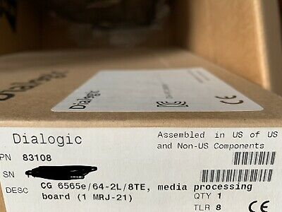 Dialogic NMS  Natural Microsystem CG6565e/64-2L/8TE  Model 83108 Brand New Seale