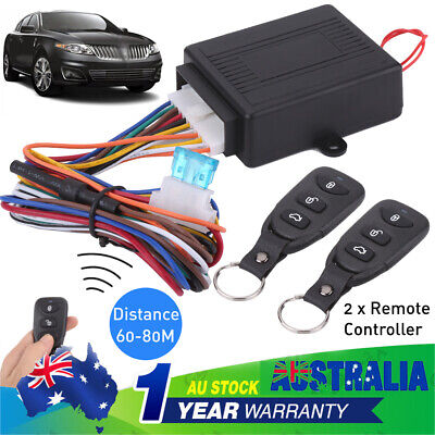 Car Remote Central Door Lock Locking Keyless Entry System W/2 Remote Controllers