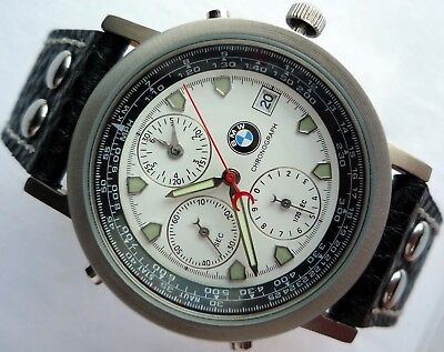 Rare BMW Classic Car Accessory Aviator Pilot  Made in Germany Watch Chronograph