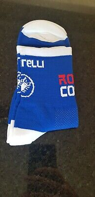 New Blue Rosso Corsa Cycling Socks Size 7-13