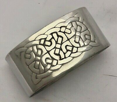 rare liberty & co tudric pewter celtic knot napkin ring by archibald knox 0935