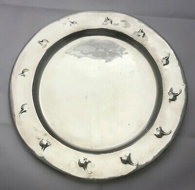 extremely rare & early hand wrought card tray or salver by  archibald knox 0111