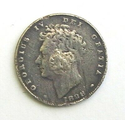 King George IV silver shilling 1828? RARE UK coin