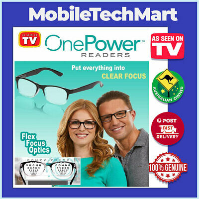 OnePower Readers◉ONE POWER◉READING GLASSES◉ADJUST FROM +1 TO +2.75◉AS SEEN ON TV